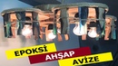 EPOKSİ AHŞAP AVİZE epoxy wood chandelier