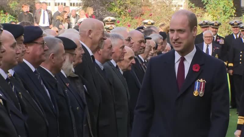 Уильям посетил парад и службу в память о погибших моряках-подводниках, 04.11.2018 (RFC)