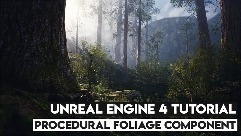 How To Create And Use Procedural Foliage Volumes - UE4 Tutorial