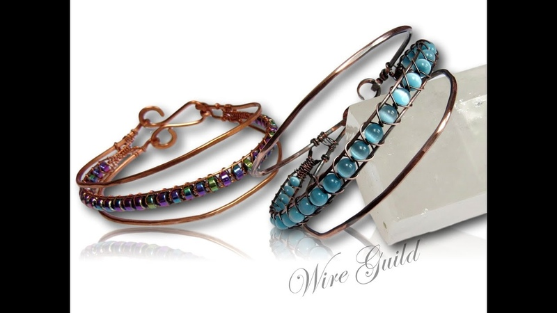 Triple Stacked Bangle A Wire Wrap Tutorial