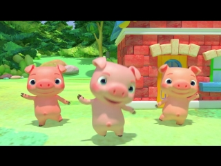 Three Little Pigs - Cocomelon (ABCkidTV) Nursery Rhymes Kids Songs