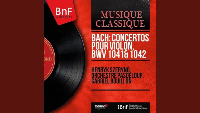 Violin Concerto in E Major, BWV 1042 II. Adagio