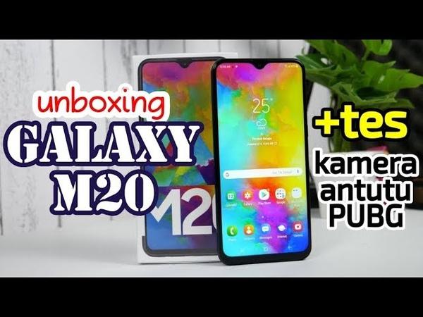 Samsung Galaxy M20 unboxing - tes kamera, AnTuTu dan PUBG