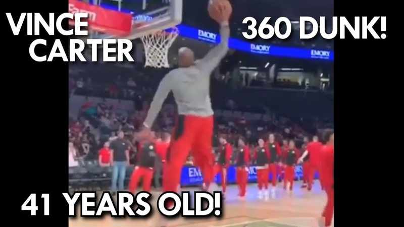 Vince Carter 360 DUNK at 41 Years OLD Should he be in the Dunk Contest