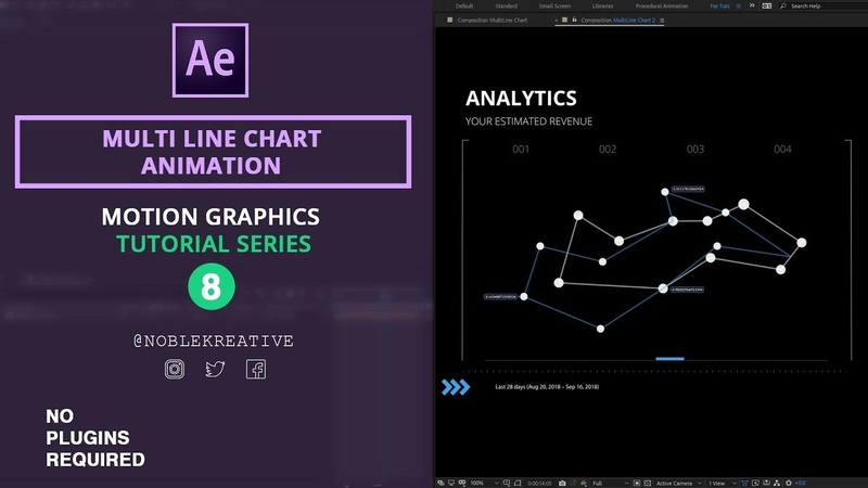 Multi Line Chart in After Effects No Plugin Required