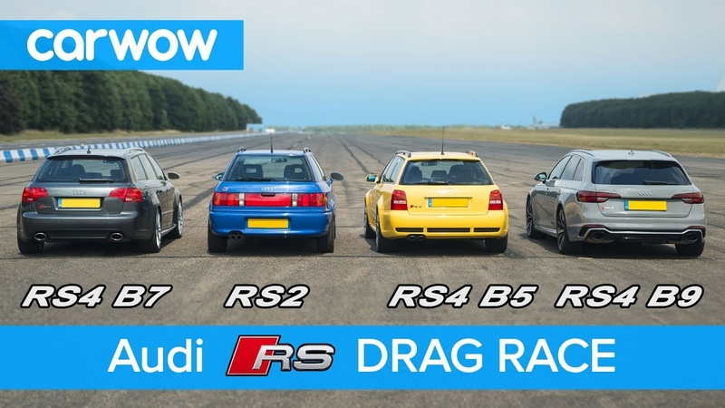 Audi RS4 generations DRAG RACE, ROLLING RACE review | carwow