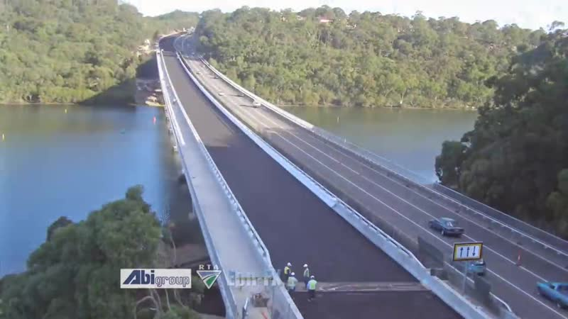 Time-lapse construction of Alfords Point Bridge Duplication by Eon-FX