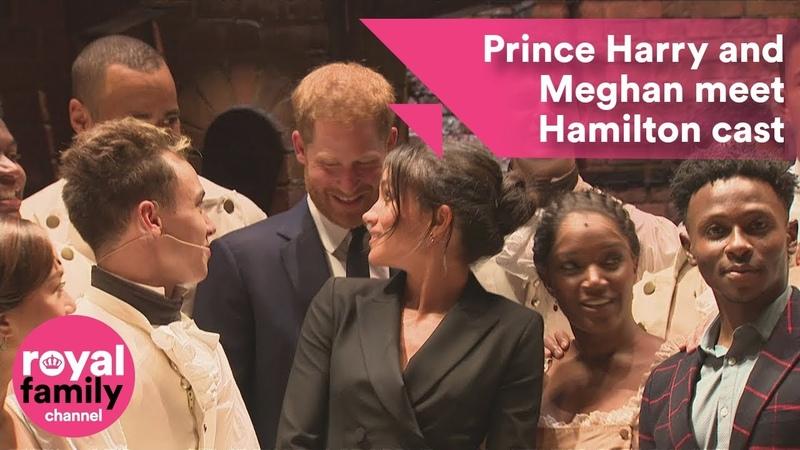 Prince Harry and Meghan meet Hamilton cast backstage