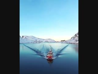 Спокойное зимнее утро на Лофотенских островах