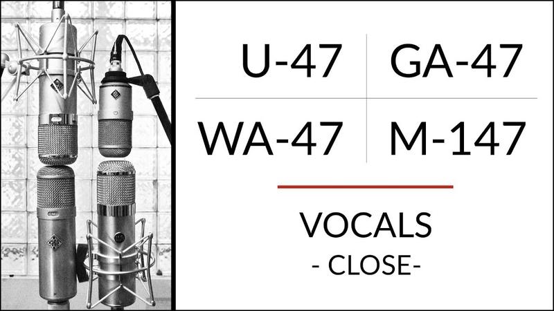 VOCALS 1 Neumann U-47 vs M-147 vs Golden Age Premier GA-47 vs Warm Audio WA-47 microphone shootout!