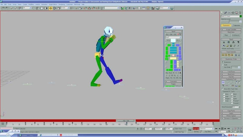 3ds max biped footstep 1