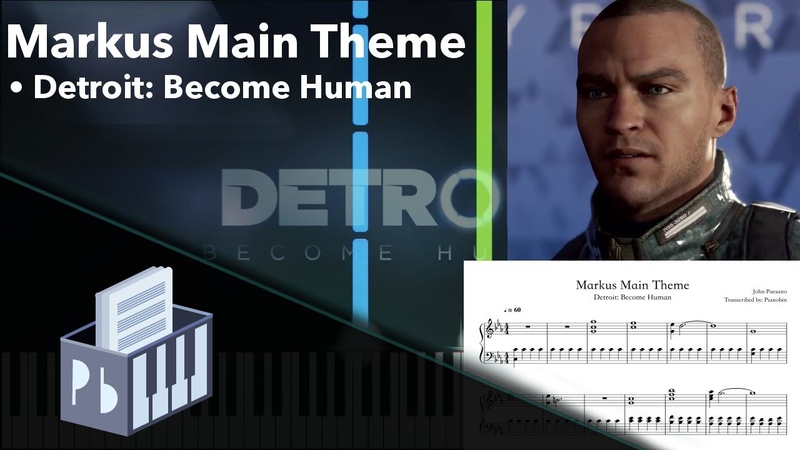 Markus Main Theme - Detroit: Become Human [Piano Tutorial Sheets] (Synthesia) Pianobin