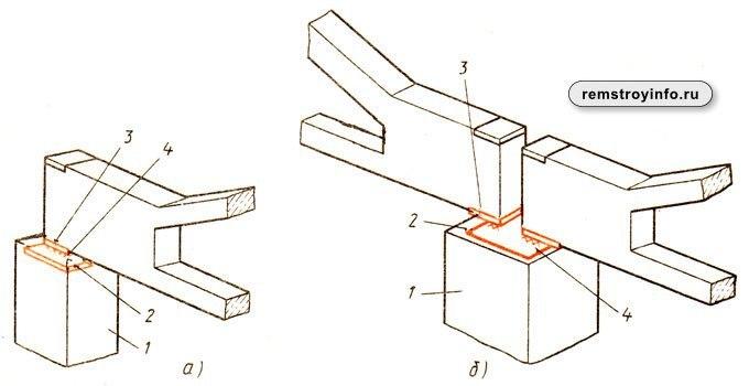 Узлы креплений железобетонных кострукций и схемы монтажа