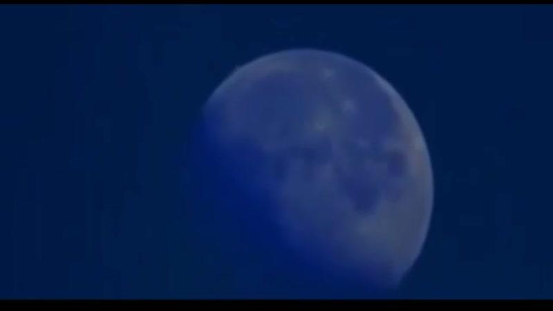 UFO Mega Struktur hinterm Mond