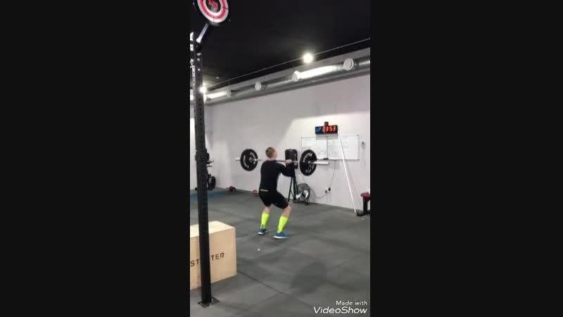 Thruster day 3×80kg; 3×90kg