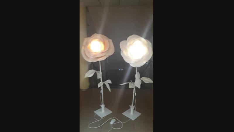 Ростовой цветок светильник