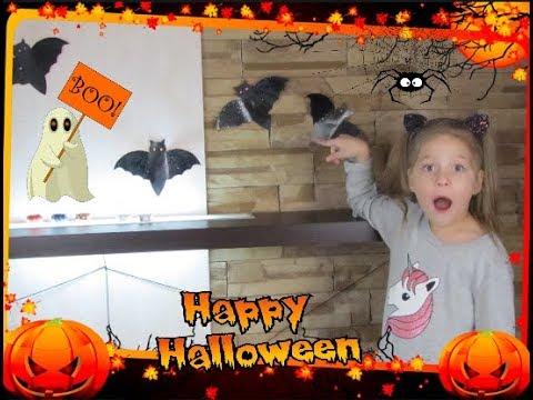 Декор комнаты на Хэллоуин 🎃DIY🎃Летучие мыши 🦇 Паутина 🕸️ Пауки 🕷️ Приведение 👻 Светильники 🎃