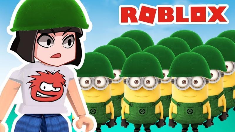 Моя АРМИЯ МИНЬОНОВ КАЖДЫЙ ШКОЛЬНИК ТАКОЙ в Армии Роблокс Roblox скетч видео для детей с Машкой