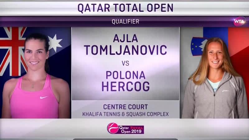 Айла Томлянович - Полона Херцог Qualifier Doha 2019 Ajla Tomljanovic - Polona Hercog