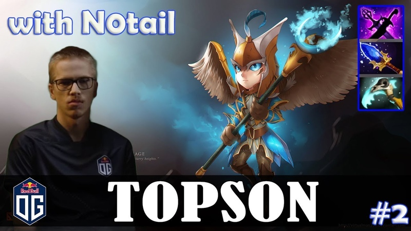 Topson - Skywrath Mage MID | with N0tail (IO) | Dota 2 Pro MMR Gameplay 2