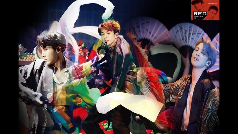 Dance song mashup BTS J Hope Jimin Jungkook IDOL Jackson Wang RED ICE