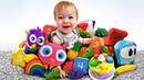 Dada toys episodi. Impariamo i colori. Giochi per bambini