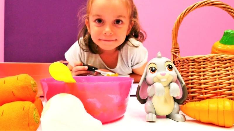 Çocuk videoları. Tavşan Tırfıl ile yemek yapma oyunu