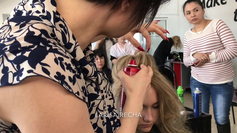 Красивая причёска от Ларисы Реча.