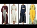 Latest Stylish And Beautiful Crop Top With Long Gown Dress Design Collection