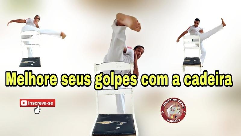 Capoeira como treinar golpes em casa com uma cadeira