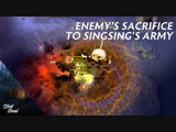 Enemy sacrificing themselves to SingSing's army