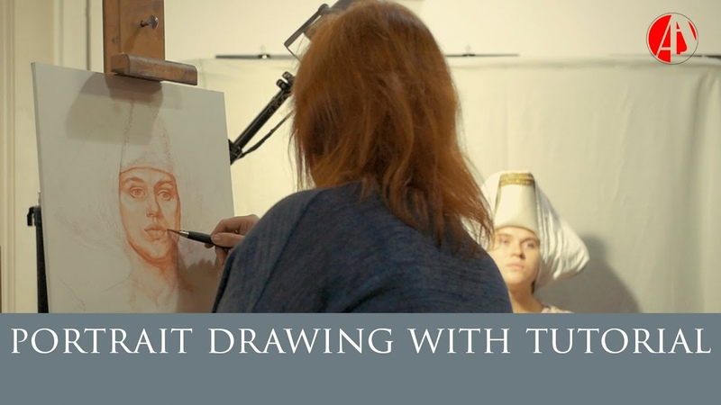 Portraiture drawing tutorial with FCAA Professor Victoria Lyadova