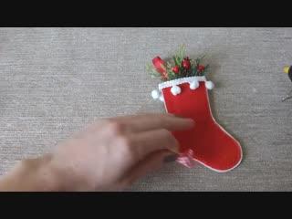 Открытка елочная игрушка мастер класс_новогодний декор своими руками_christmas decor