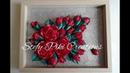 🌹 How to make Kanzashi Roses 25 🌹 D.I.Y Come realizzare un quadro con rose in raso 🌹