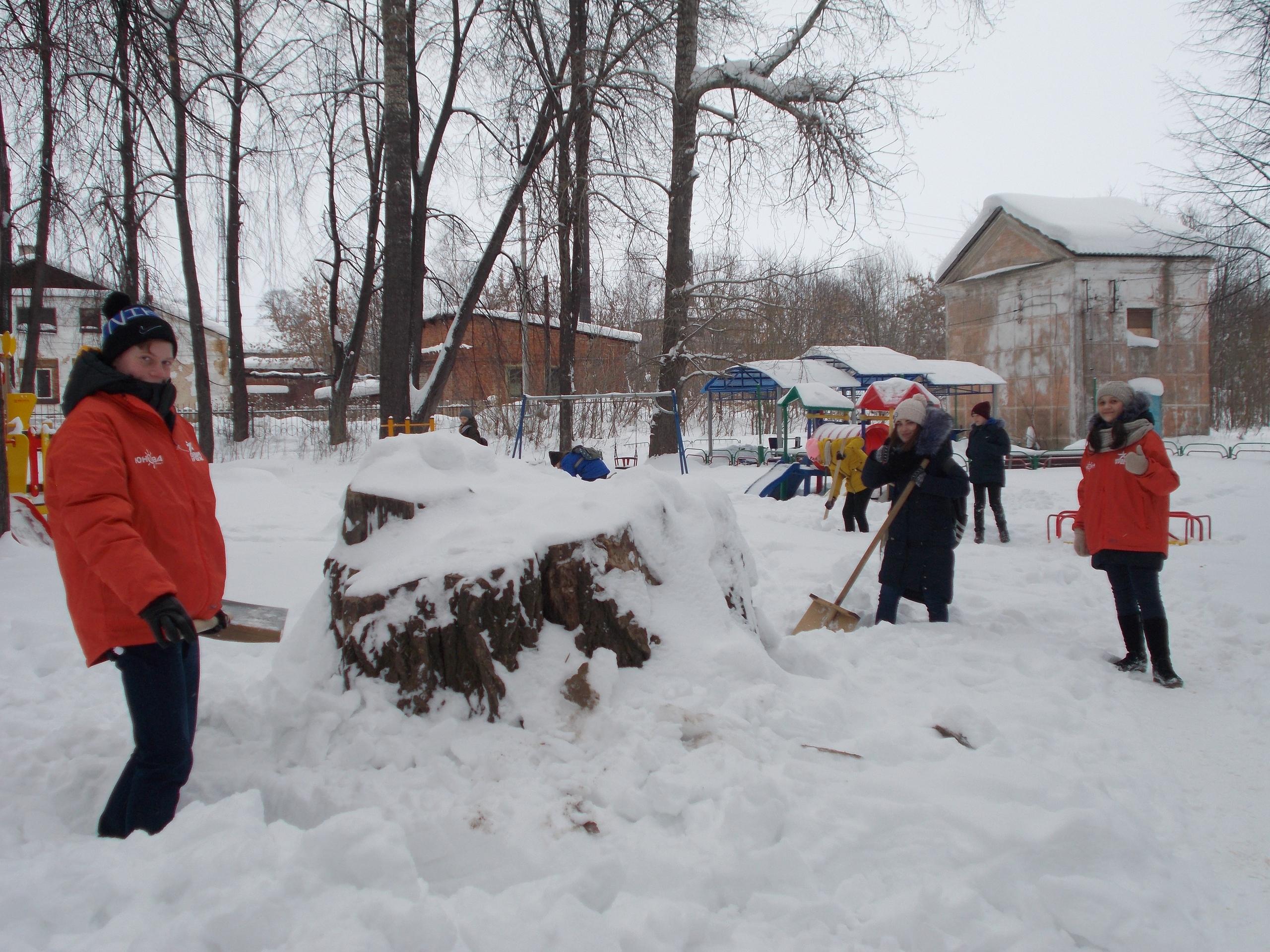 «Снежный десант» вгорсаду
