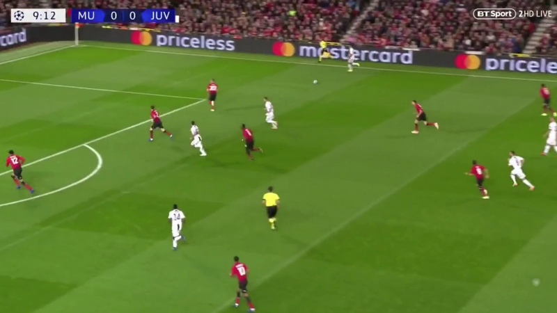 Mourinho outplayed by Allegri's False Nine Tactic | Manchester United - Juventus Tactical Analysis