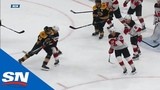 David Backes Nails Blake Coleman With Illegal Hit To The Head