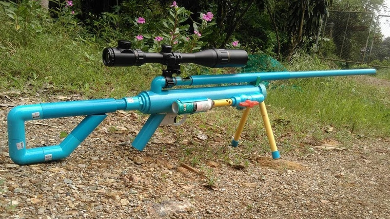 Powerful PVC Gas Gun - How to make PVC Gas Gun Using Glass Marble Bullet