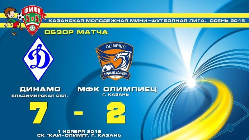 ОБЗОР МАТЧА Динамо (Владимирская область) - Олимпиец (Казань) 7-2 (5-0)