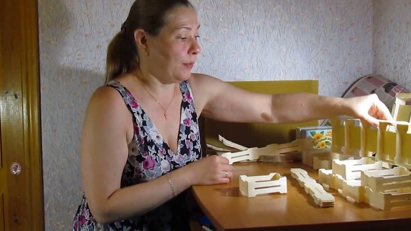 Сборка мини рамочек для секционного сотового мёда