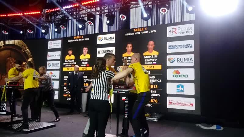 Кубок мира среди профессионалов Zloty tur 17-18.11.2018г Польша