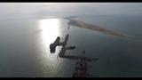 Строительство моста через Керченский пролив. Вид с дрона