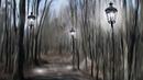 Картинка нарисованная Парк дорожка фонари Hoton hoto Park hanya hasken wuta