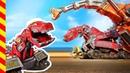 Динозавр мультик все серии. 20 МИН. Машинки мультфильм Роботы. Трактор грузовик. Динотракс машинки