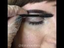Оформление бровей легкий макияж 2 окрашивание полуперманентной краской Binacil коррекция пинцетом