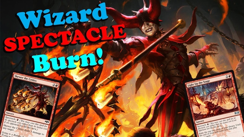 Modern Wizard SPECTACLE Burn! w/ Light Up the Stage Skewer the Critics - NEW from RNA!!