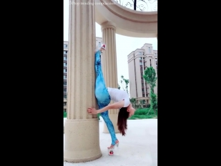 Sls 軟体 leg oversplits contortion -leg behind head
