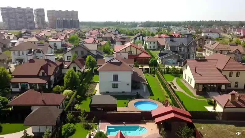 немецкая деревня с высоты птичьего полёта