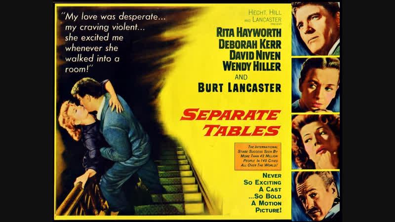 Separate Tables 1958 Rita Hayworth Deborah Kerr David Niven Burt Lancaster