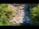 Озеро Рица Аэросъемка 2018 Абхазия Голубое озеро Гегский водопад